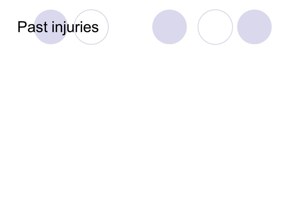 Past injuries