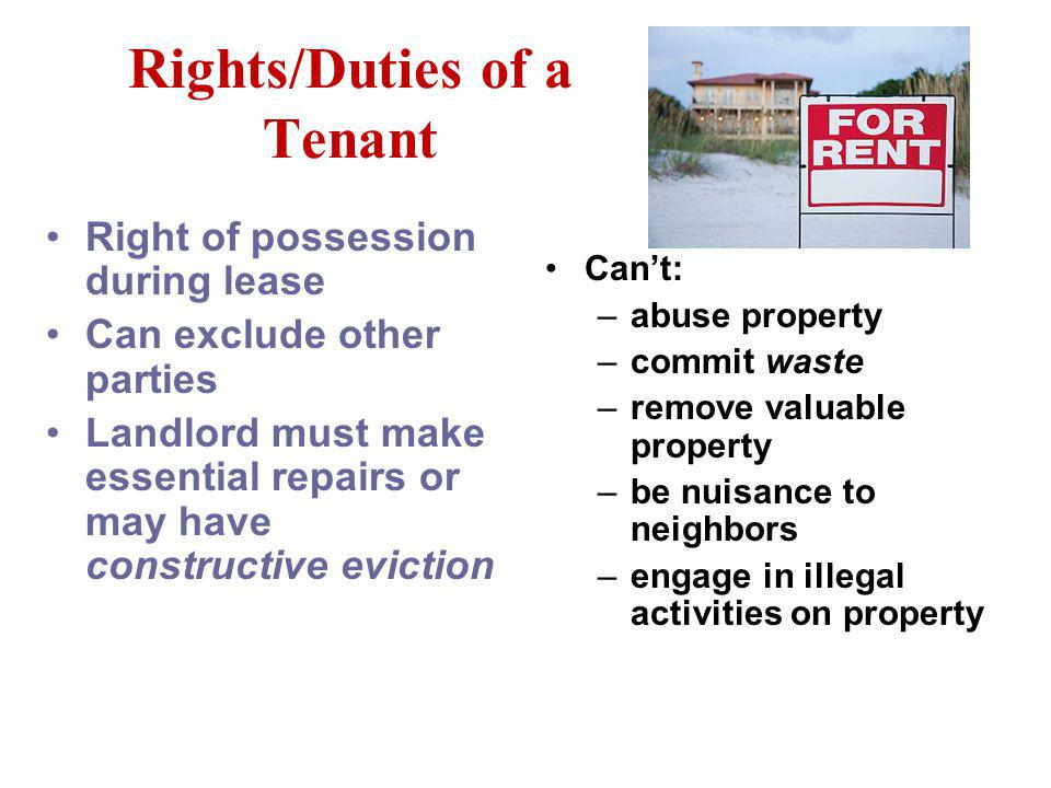 Lease Can be commercial or residential ID parties describe premises being leased state how long in effect state how much rent is to be paid does not h
