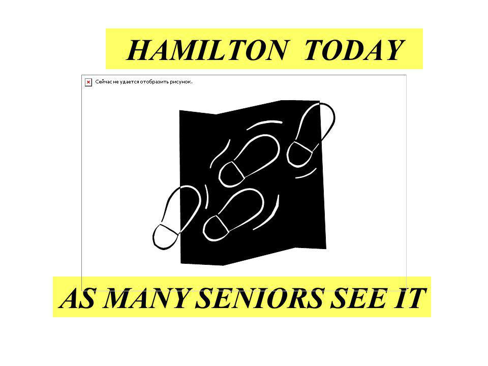 HAMILTON TODAY AS MANY SENIORS SEE IT