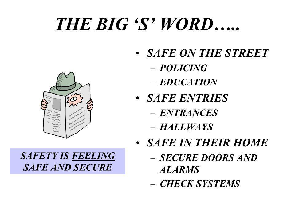 THE BIG S WORD…..