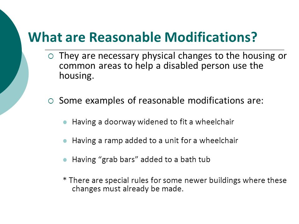 What are Reasonable Modifications.