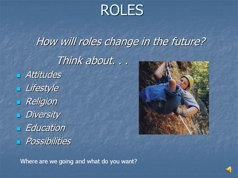 ROLES Today, people with disabilities... Are recognized as people first who Are recognized as people first who Have diverse interests and needs Have d