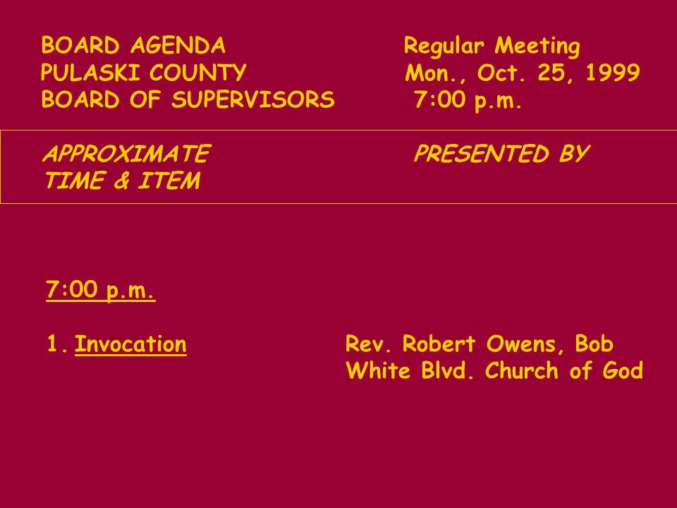 g.Board of Supervisors Concerns