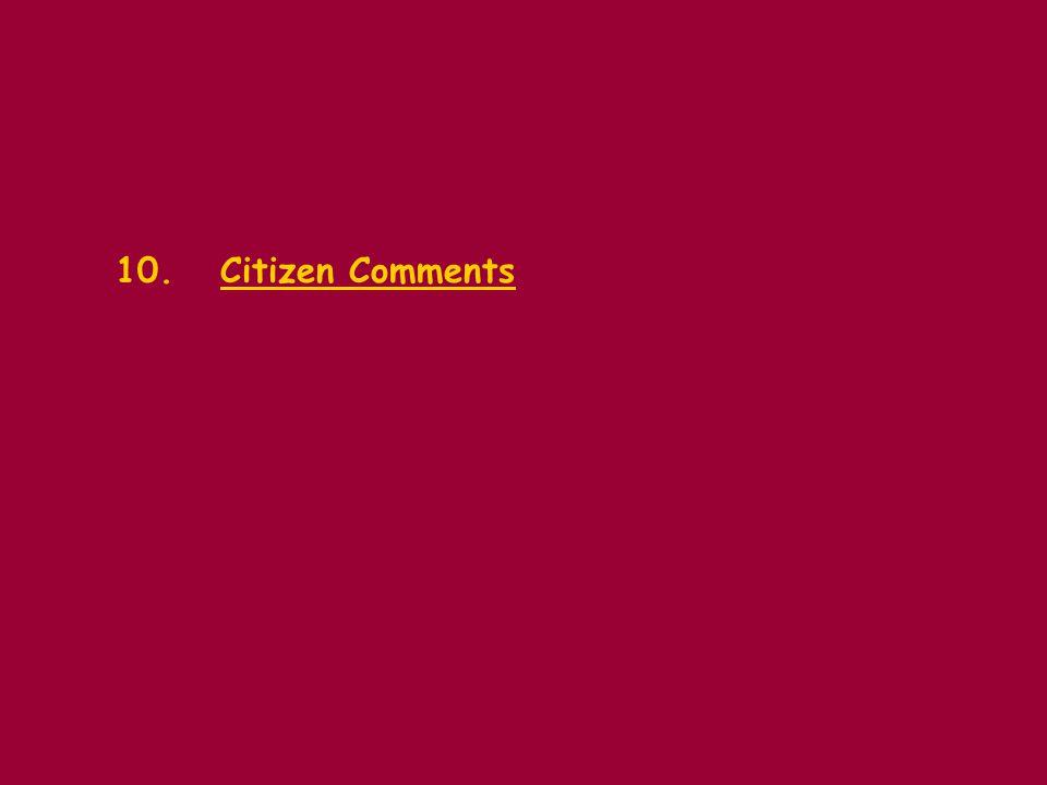 10.Citizen Comments