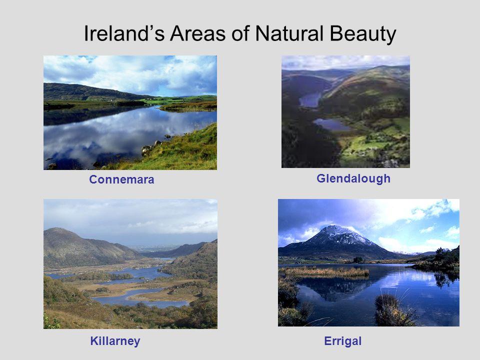 Irelands Areas of Natural Beauty Connemara Glendalough KillarneyErrigal