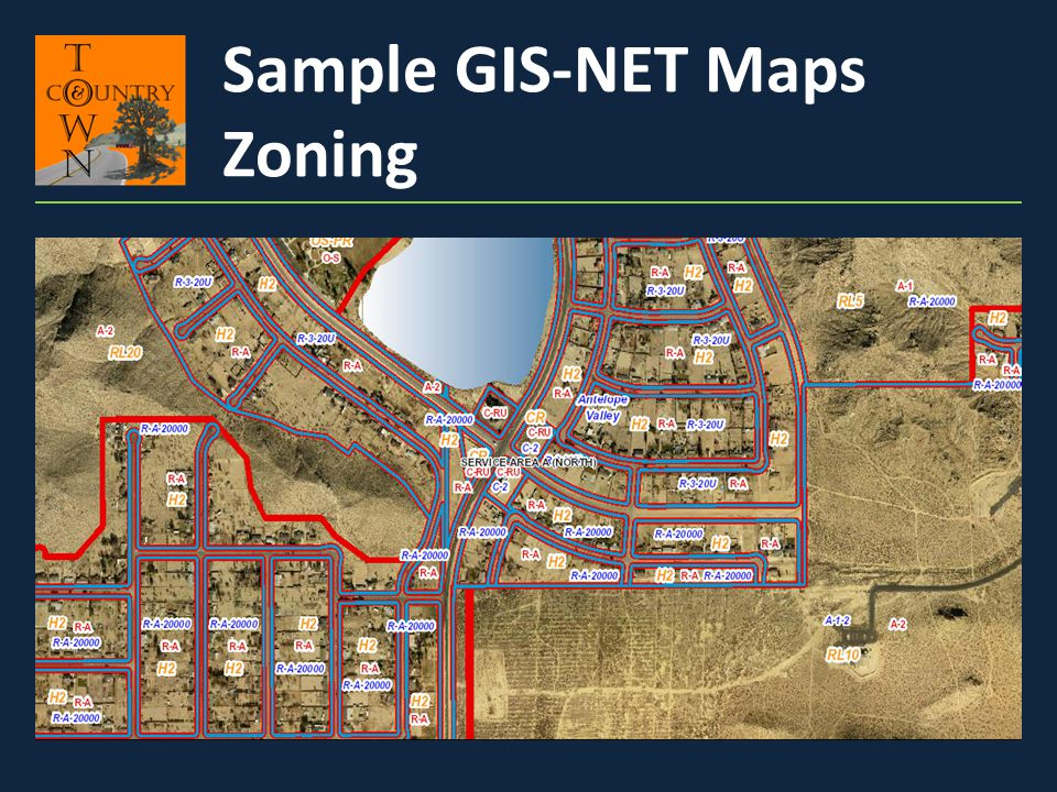 Sample GIS-NET Maps Zoning