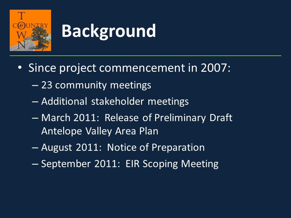 Land Use Policy Antelope Valley Area Plan Update