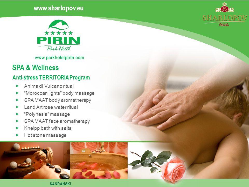 www.sharlopov.eu www.parkhotelpirin.com Anima di Vulcano ritual Moroccan lights body massage SPA MAAT body aromatherapy Land Art rose water ritual Pol