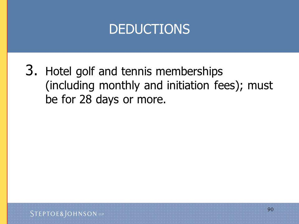 90 DEDUCTIONS 3.