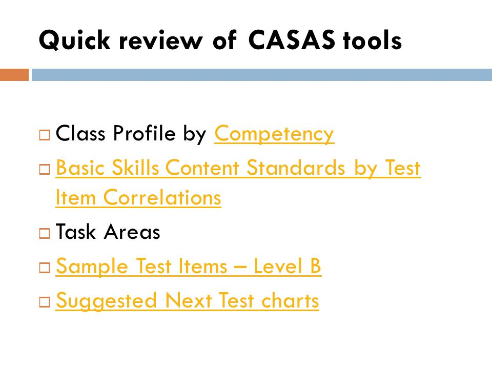 Other Curricula Suggestions Curriculum adopted by your program (linked to CASAS competencies) Scope and Sequence (found on www.marshalladulteducation.org website) www.marshalladulteducation.org