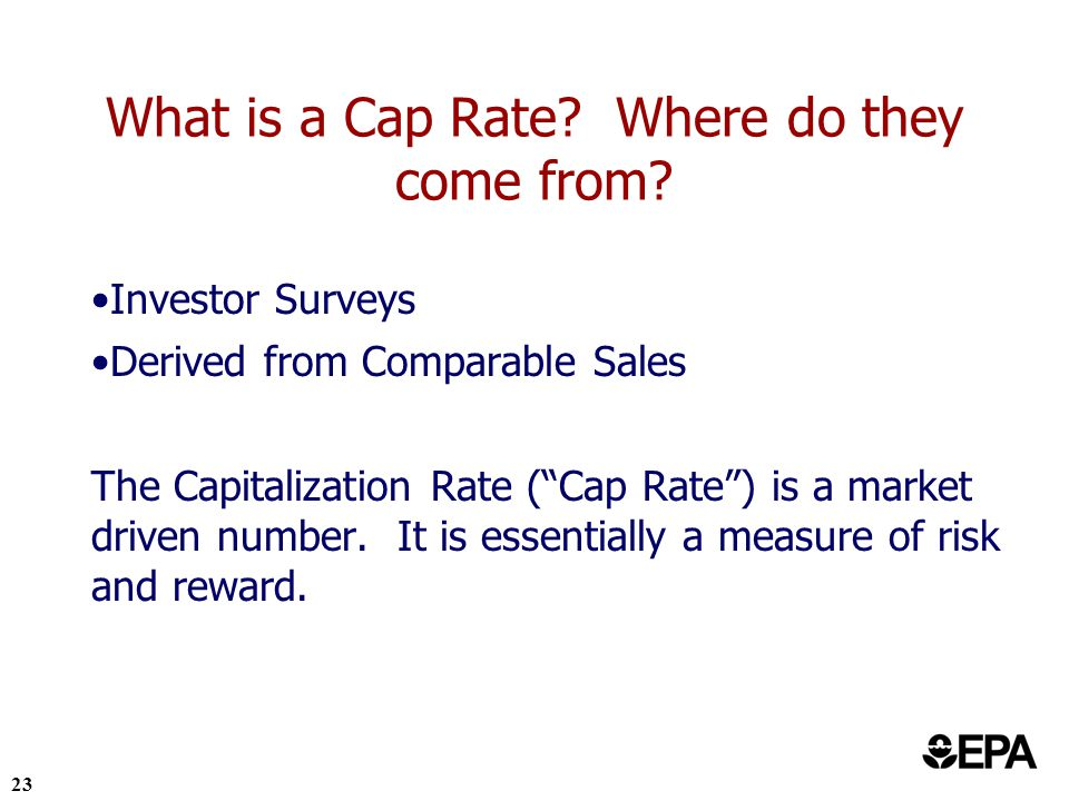 23 What is a Cap Rate. Where do they come from.