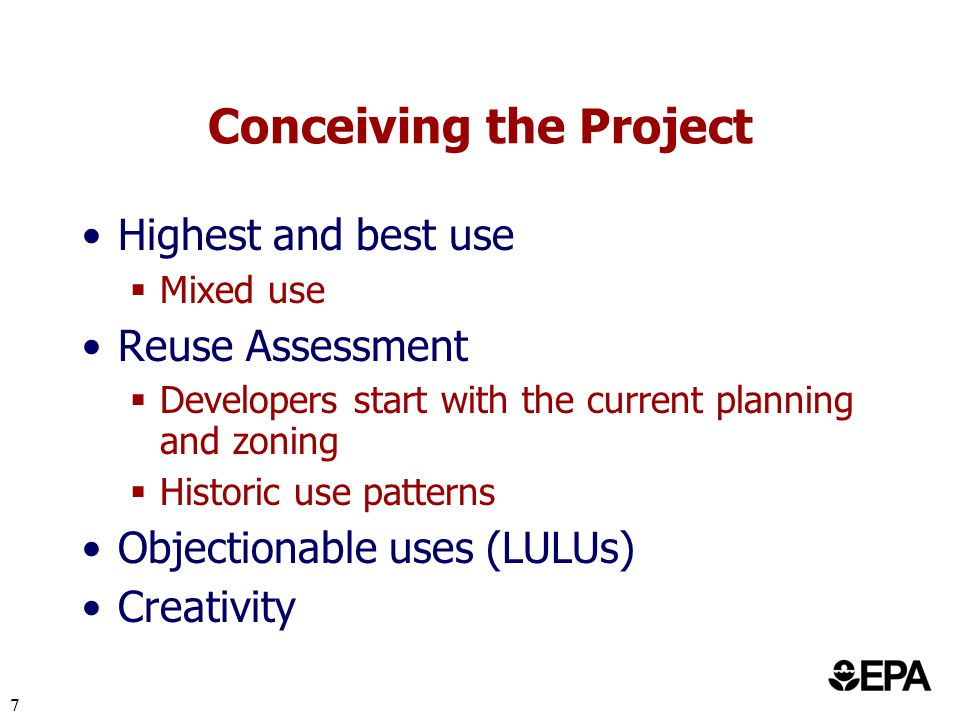 8 Reuse Assessment Property Environmental Community Financial