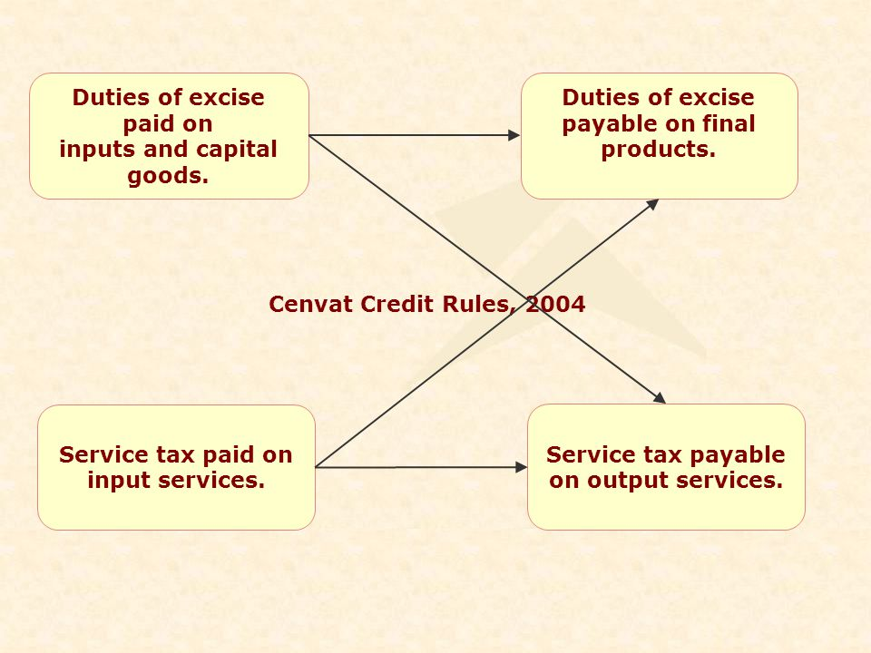 Duties of excise paid on inputs and capital goods.