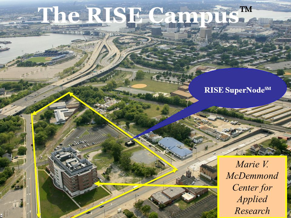 The RISE SuperNode SM, via our affiliated business unit, E 2 F Broadband, LLC, provides premier regional access to all major Points- of-Presence (gigaPOPs).