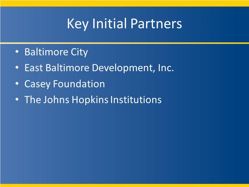 Key Initial Partners Baltimore City East Baltimore Development, Inc.