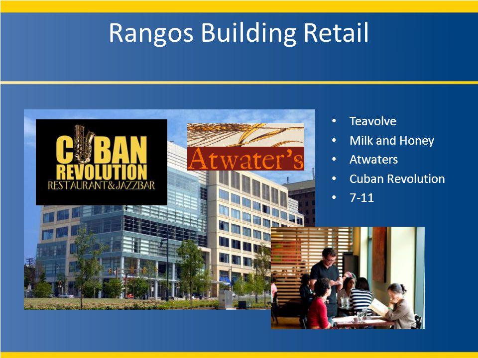Rangos Building Retail Teavolve Milk and Honey Atwaters Cuban Revolution 7-11
