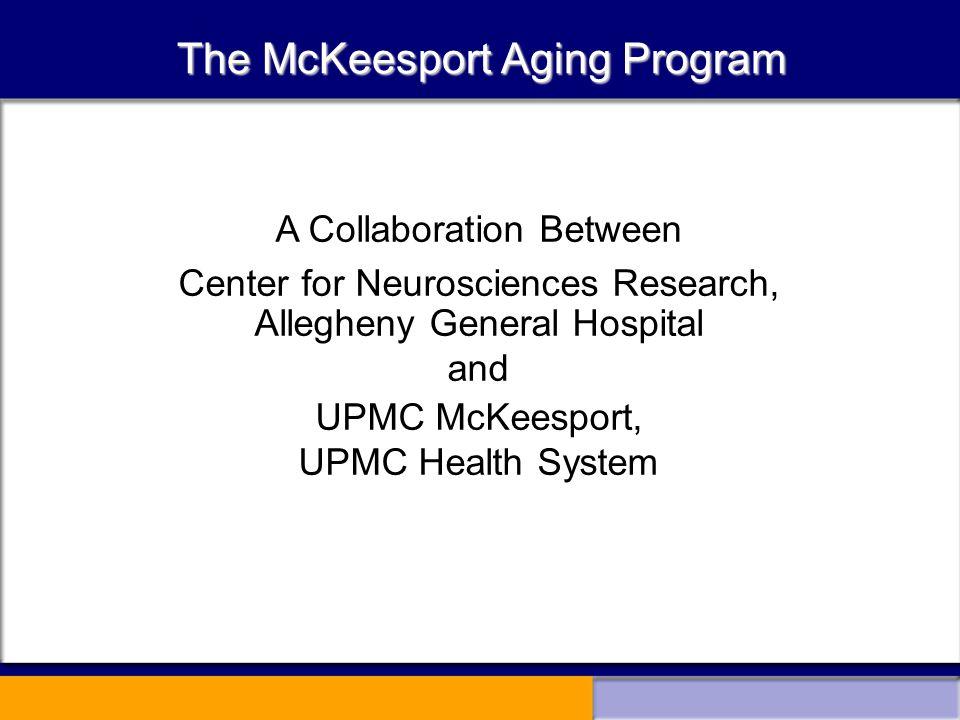 MAP Collaborations – II McKeesport Center for Smart Aging Robert A.