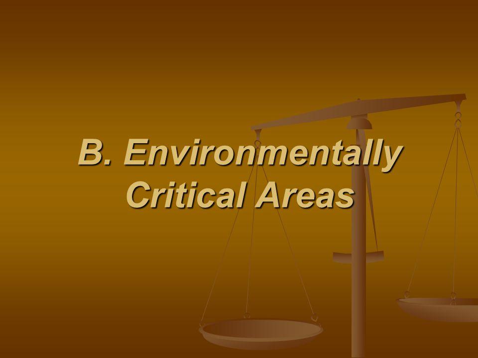 B. Environmentally Critical Areas