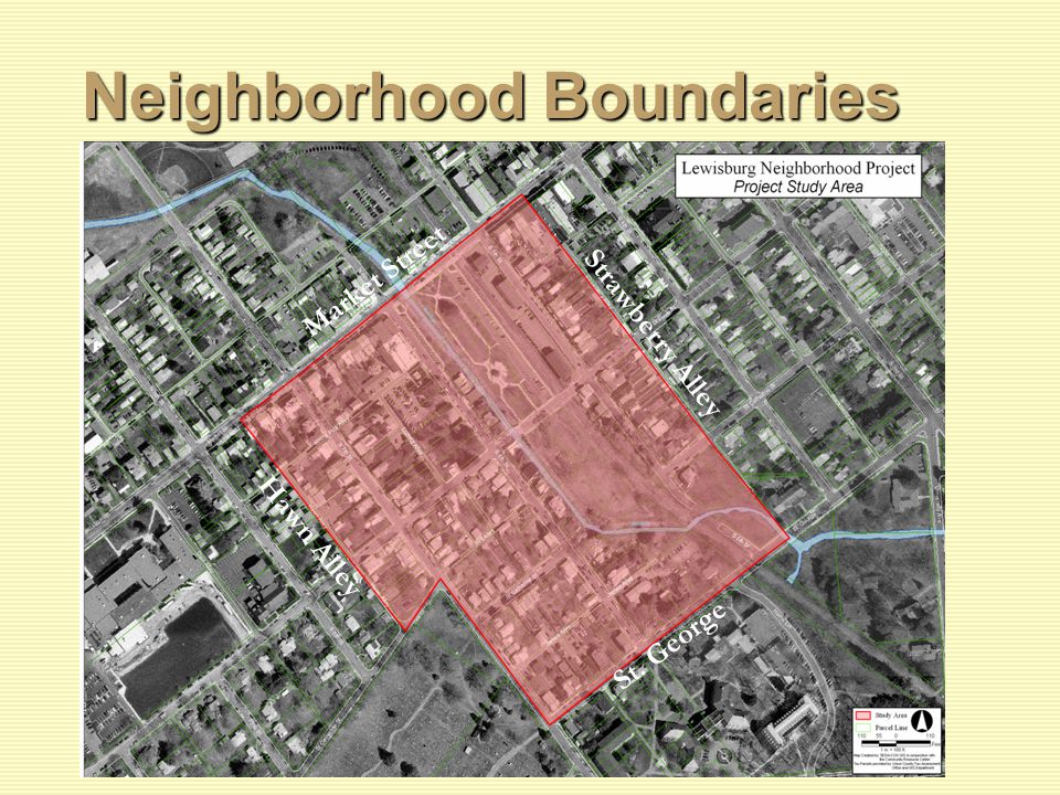 Neighborhood Boundaries Market Street Strawberry Alley St. George Hawn Alley