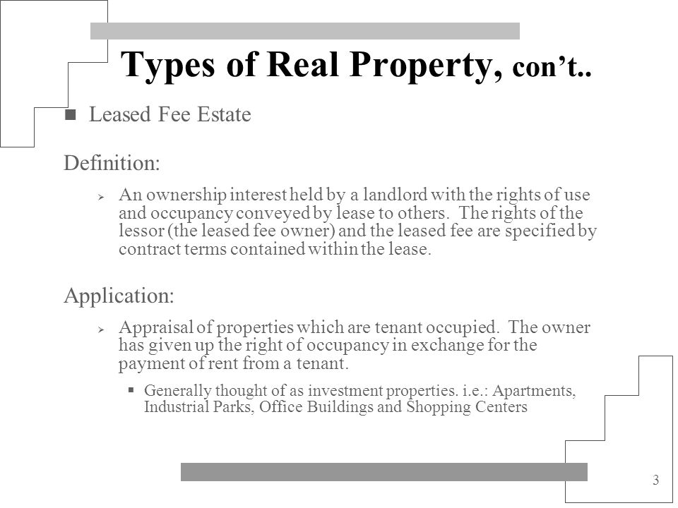 14 The Market A Submarket may be described in terms of: Potential users Potential buyers Price or rental amount range Product type Geographic Area Market Area defined: The defined geographic area in which the subject property competes for the attention of market participants; the term broadly defines an area containing diverse land uses.