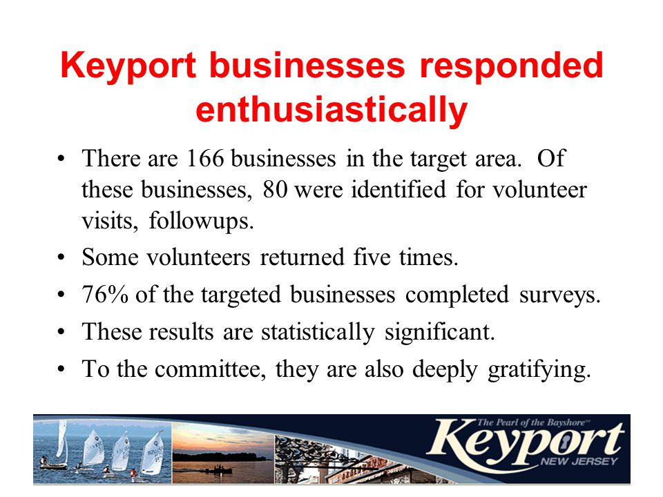 Home stretch The businesses surveyed, and the control group, seem to agree on several things.