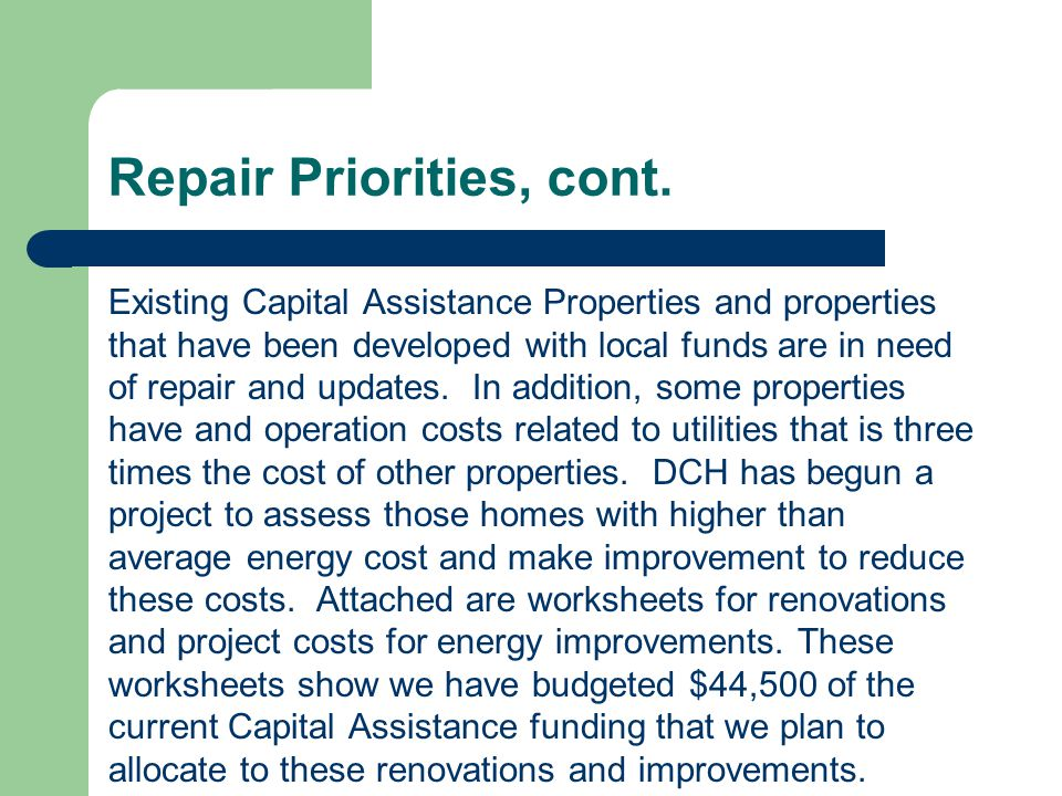 Development Priorities The greatest difficulty Delaware County faces in matching roommates in residential settings is not matching interests and service needs but rather matching residents choice of providers.