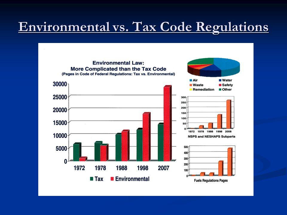 Environmental vs. Tax Code Regulations