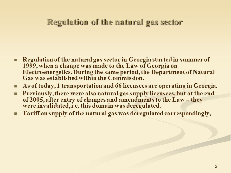 13 Infrastructure: Gas distribution stations Georgian Gas Transportation Company operates 133 gas distribution stations of which 78 stations are on the balance of the Georgian International Gas Corporation.