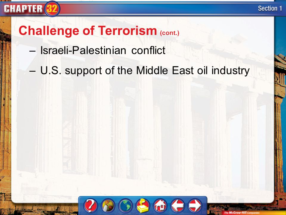 Section 1 –Israeli-Palestinian conflict –U.S.