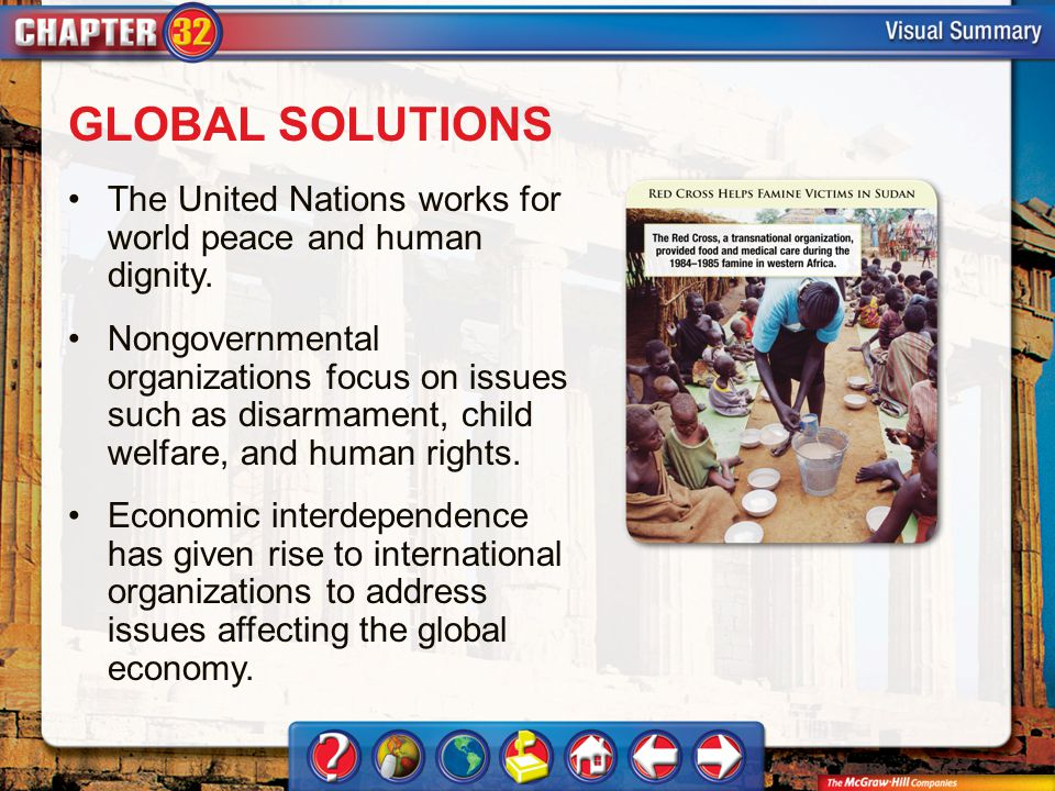 VS 3 GLOBAL SOLUTIONS The United Nations works for world peace and human dignity.