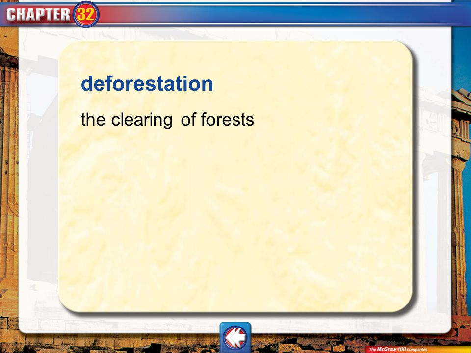 Vocab3 deforestation the clearing of forests