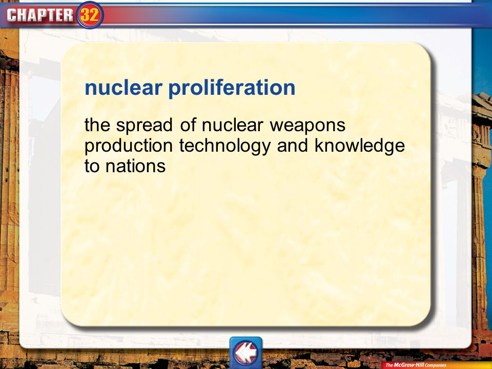 Vocab11 nuclear proliferation the spread of nuclear weapons production technology and knowledge to nations