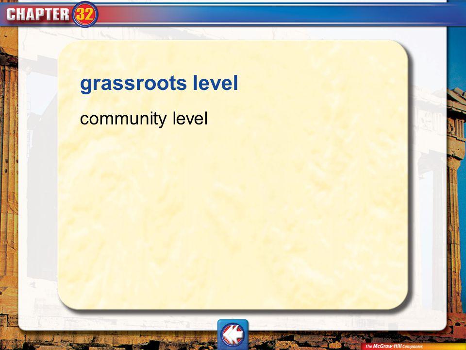 Vocab14 grassroots level community level