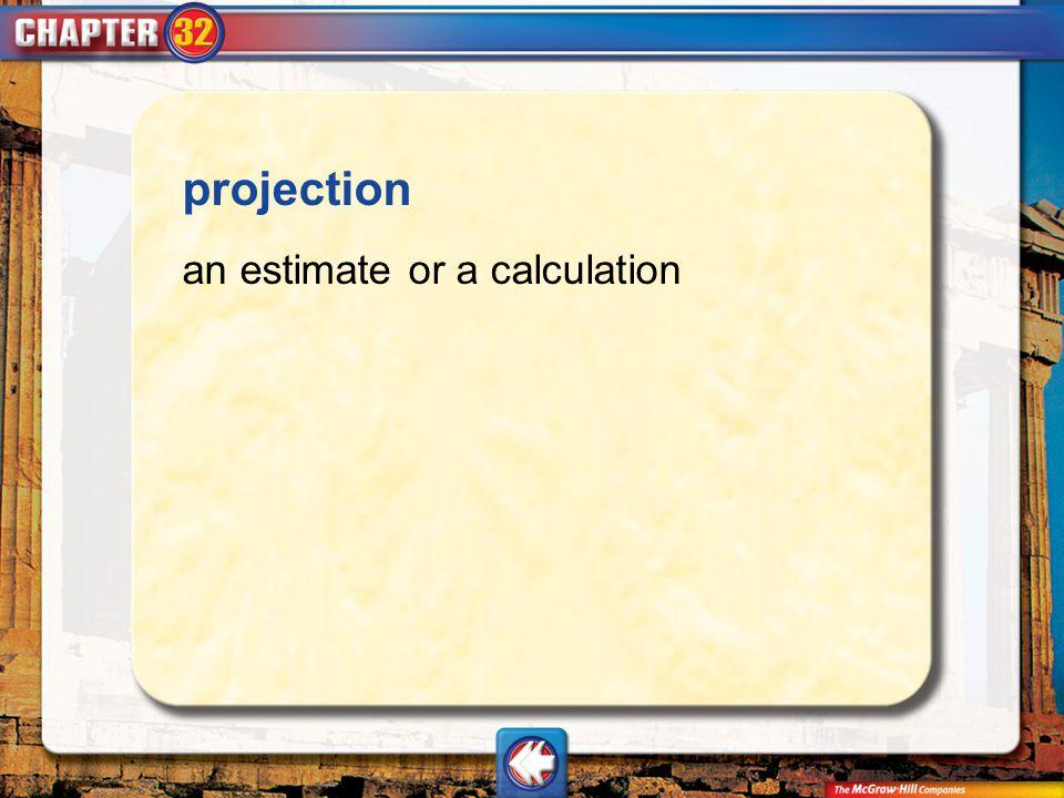 Vocab18 projection an estimate or a calculation