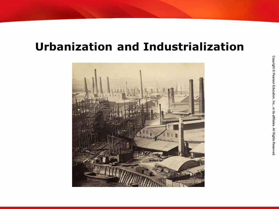 TEKS 8C: Calculate percent composition and empirical and molecular formulas. Urbanization and Industrialization