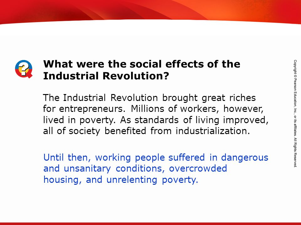 TEKS 8C: Calculate percent composition and empirical and molecular formulas. What were the social effects of the Industrial Revolution? The Industrial