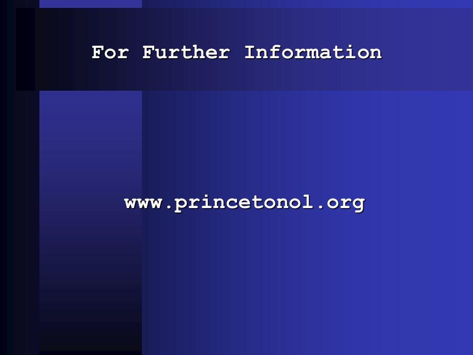 For Further Information www.princetonol.org