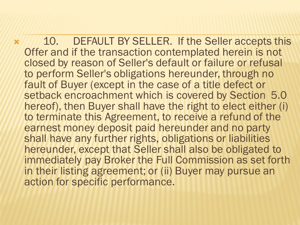 9.DEFAULT BY BUYER.