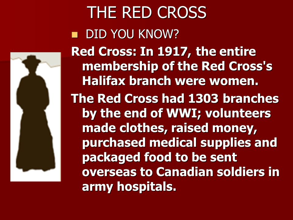 THE RED CROSS DID YOU KNOW.DID YOU KNOW.