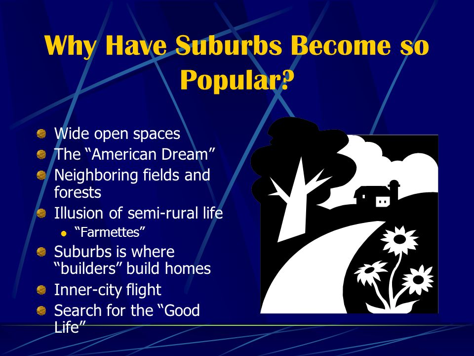 Why Have Suburbs Become so Popular.