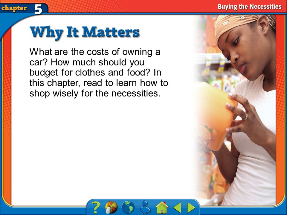Chapter Intro 2 What are the costs of owning a car.