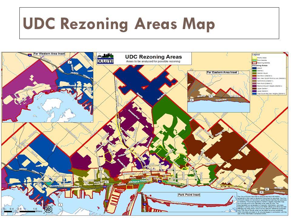 UDC Rezoning Areas Map