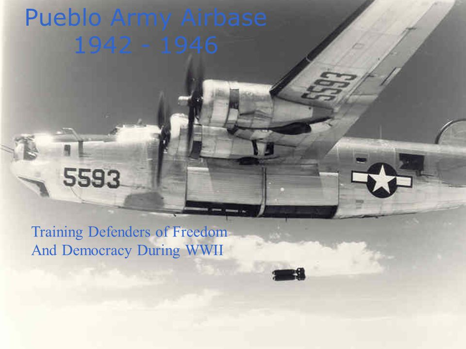 Pueblo Army Airbase 1942 continued September 30, 1942: The first planes to be stationed at PAAB arrived, flying in formation.[i] They were under the command of Tactical Group Commander Lt.