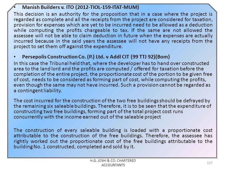 Manish Builders v.
