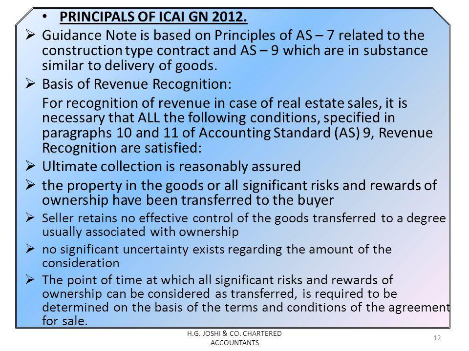 PRINCIPALS OF ICAI GN 2012.