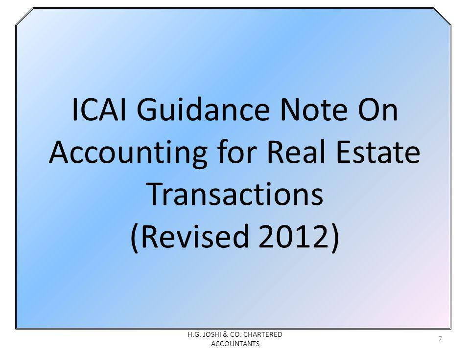 ICAI Guidance Note On Accounting for Real Estate Transactions (Revised 2012) 7 H.G.