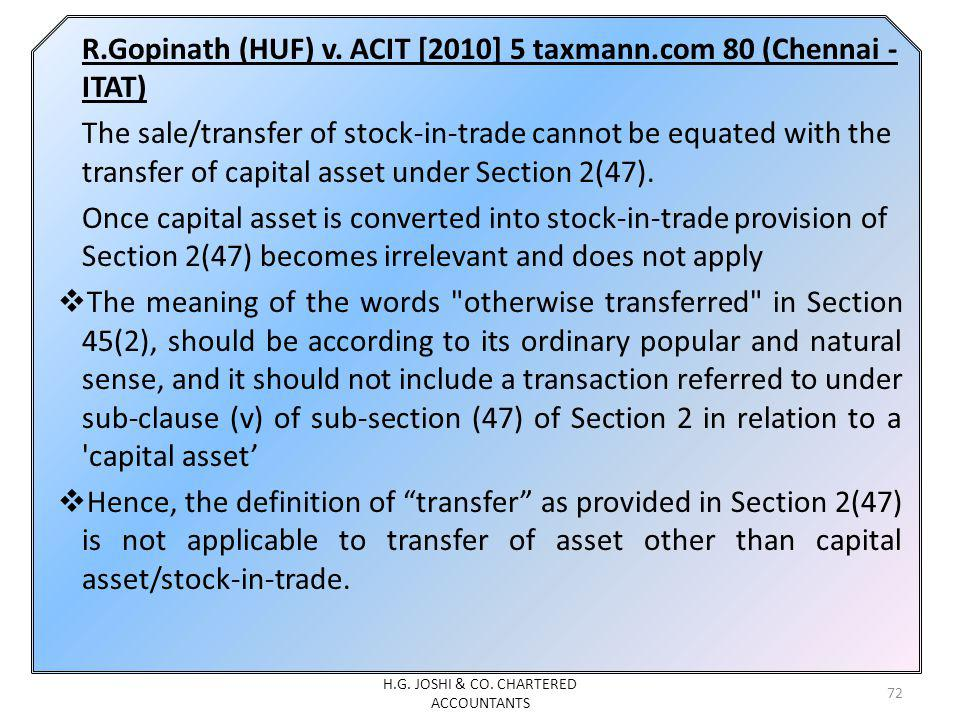 R.Gopinath (HUF) v.