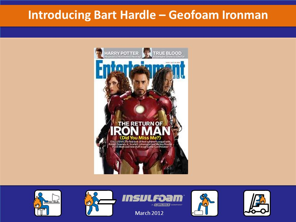 Sales Meeting March 2012 March 2012 Introducing Bart Hardle – Geofoam Ironman