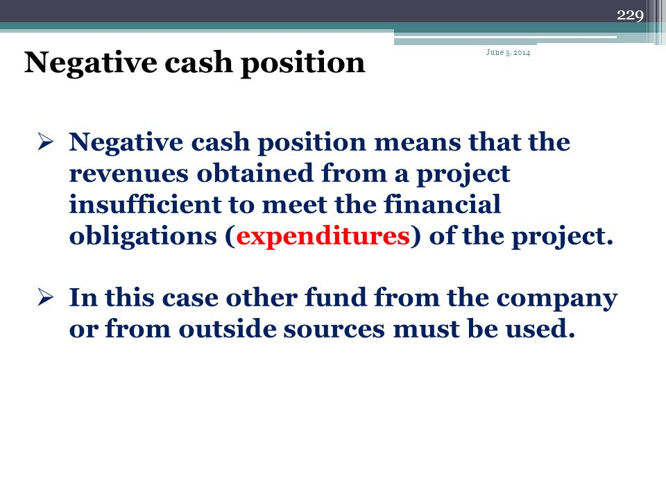 228 Cash Flow Analysis Cash flow analysis consists of a detailed examination of funds disbursement (expenditures) and the receipt of revenue. Cash flo