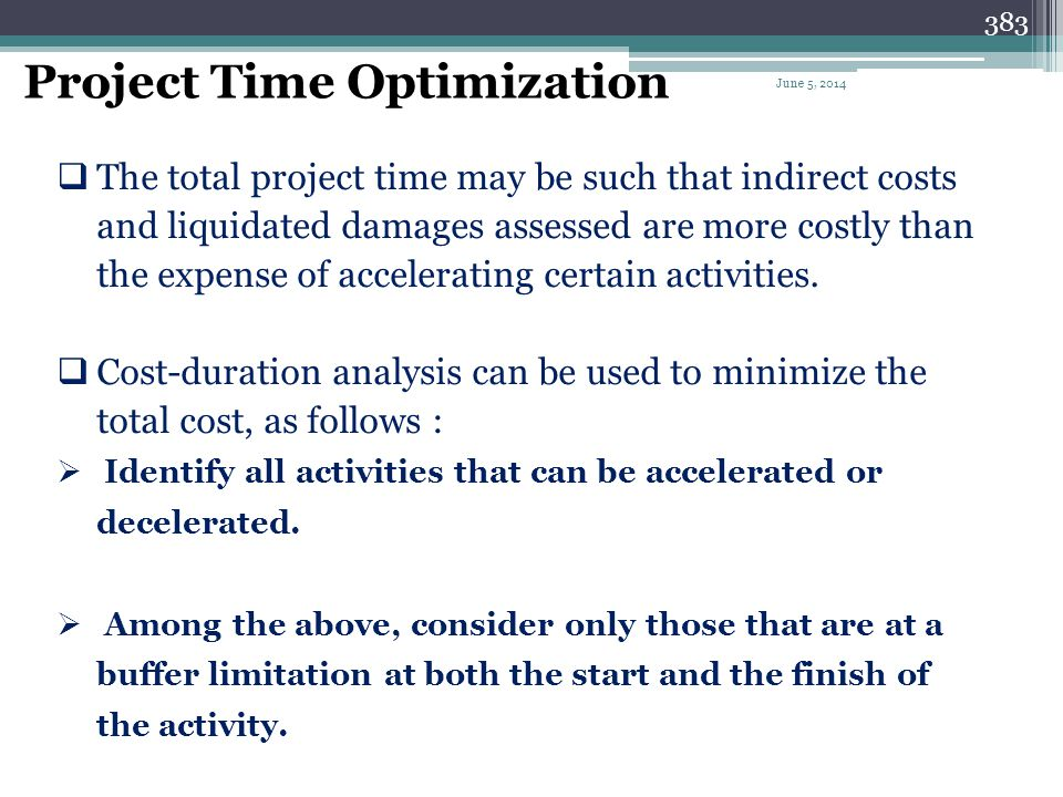 382 Activity Intervals Used to describe the period of time between the start and finish of an activity at a particular location. Intervals can be indi